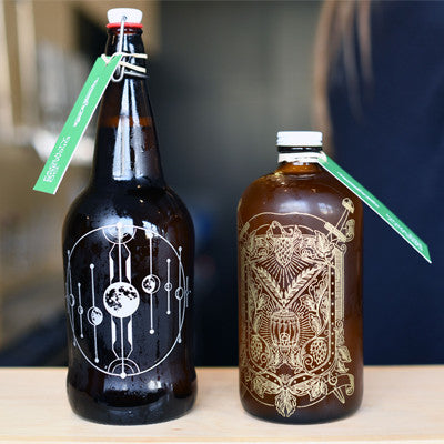 Browse our customizable engraved beer growler designs