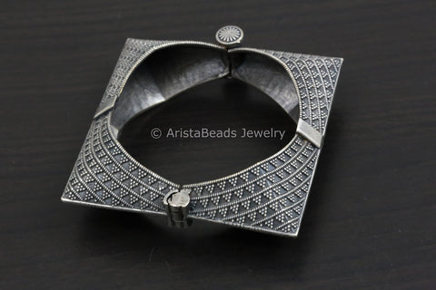 Silver Look Alike Rectangle Bangle