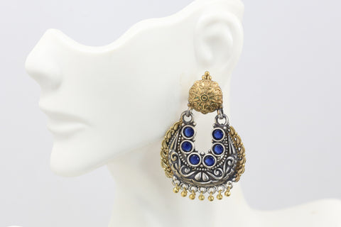 Blue Dual Tone Chandbaali