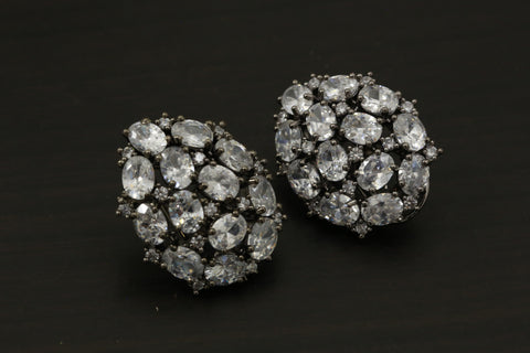 Victorian Clear CZ  Earrings