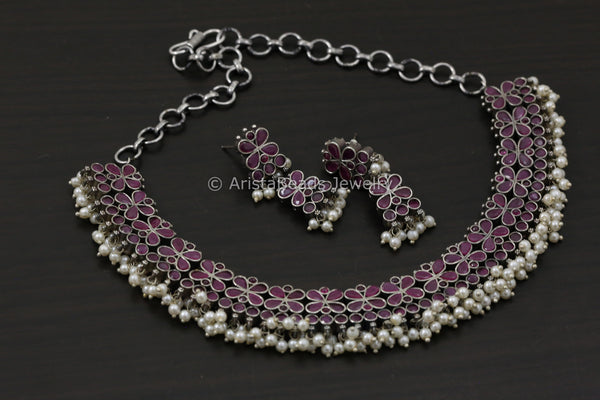 Ruby Guttapusalu Necklace Set