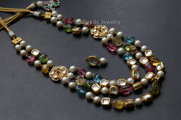 Multicolor Jaipur Kundan Mala Set