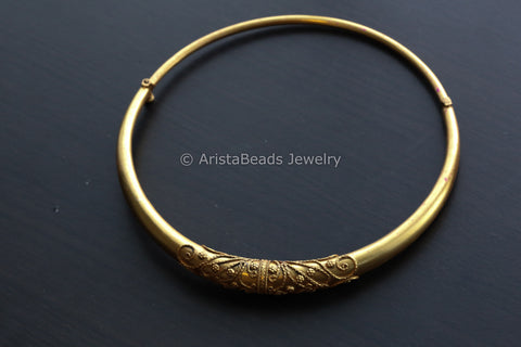 Gold Plated Pure Silver Hasli Necklace