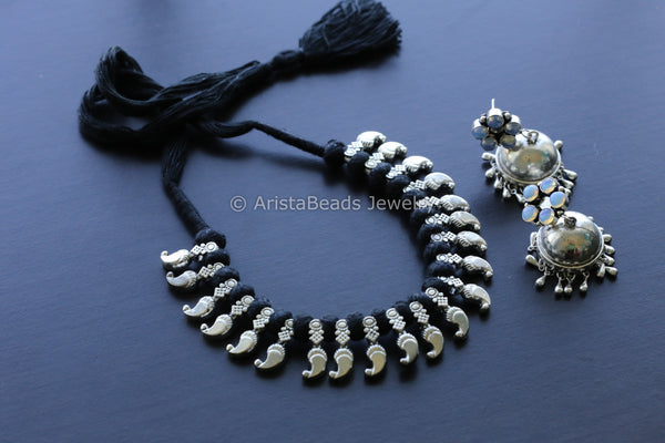 Black Thread Tribal Necklace