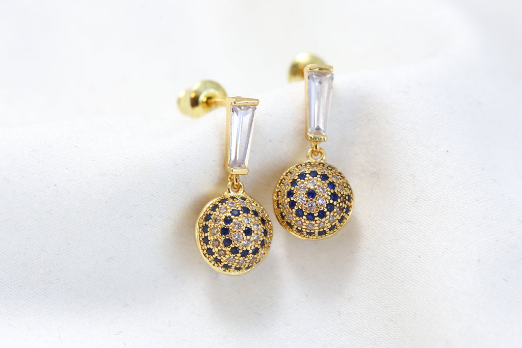 Cute CZ Drops - Blue