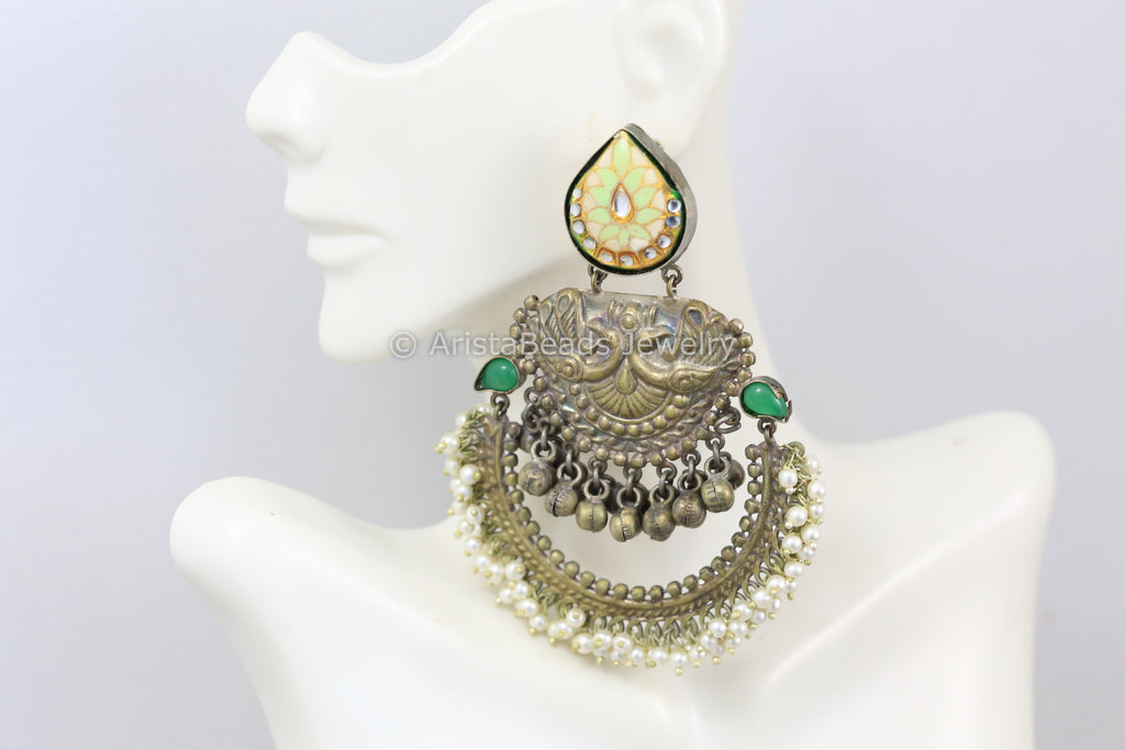 Oxidized One Of A Kind Chandbaali