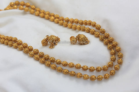 Gold Beaded Chain Set