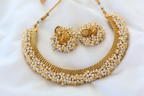 Antique Polki Necklace with Pearls