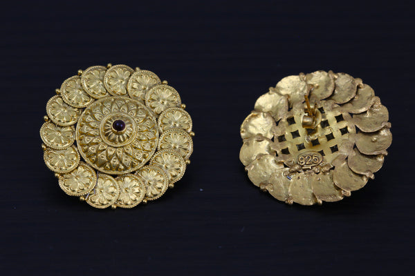 925 Large Coin Studs