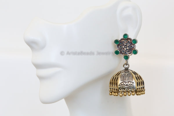 Cute Green Stud Jhumka