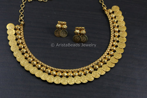 Lakshmi Coin Necklace Set