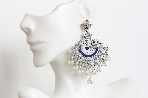 Enamel Chandbaali - Royal Blue
