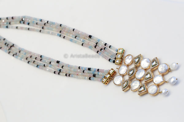 Contemporary Kundan & Baroque Pearl Necklace
