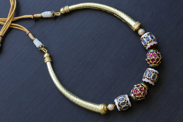 Jadau Kundan Hasli Necklace