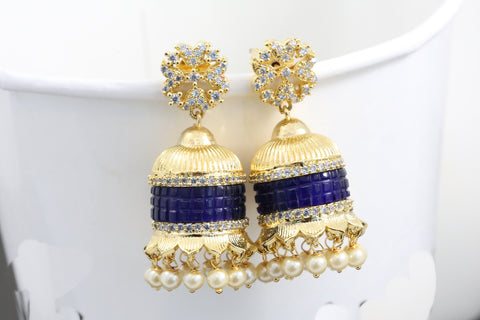 Contemporary Blue Jhumka