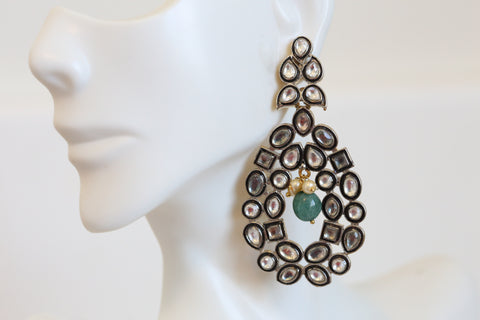 Victorian Kundan Earrings