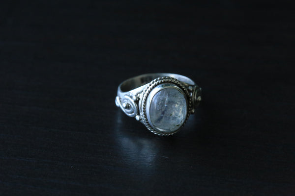 Rainbow Moonstone 925 Silver Ring - AristaBeads Jewelry - 3