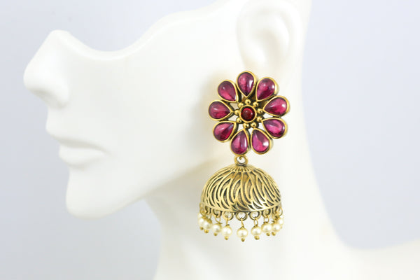 Antique Ruby  Jhumka