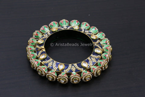 Enamel Jaipuri Pacheli Bangle