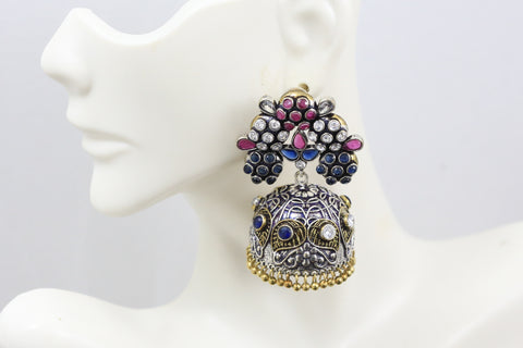 Ruby Blue Jhumka