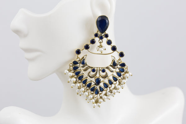 Antique Earrings -Blue