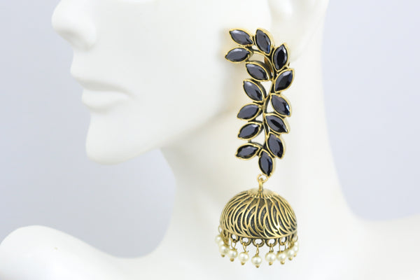 Antique Black Pearl Jhumka
