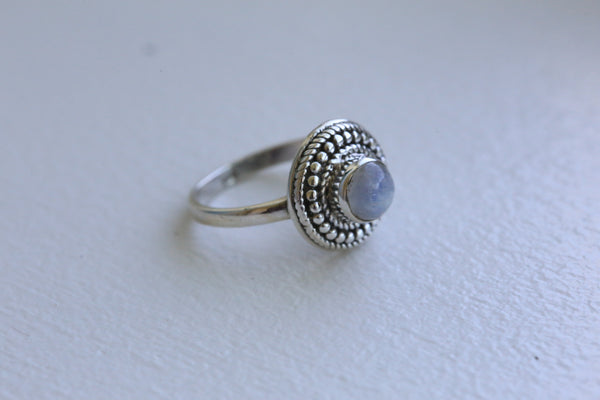 Delicate Rainbow Moonstone 925 Silver Ring - AristaBeads Jewelry - 4