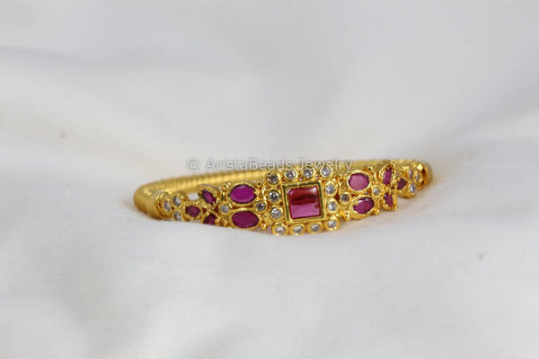 Delicate Ruby Kemp Bangle Bracelet