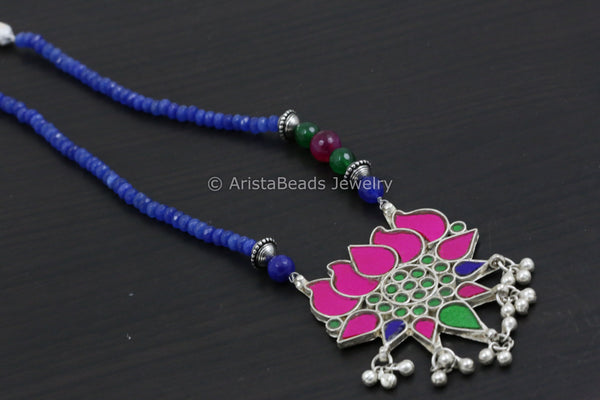 Real Glass Handmade Lotus Necklace