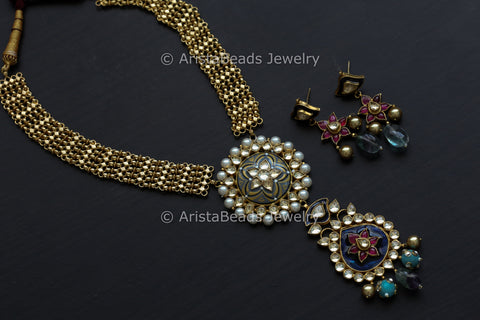 One Of A Kind Kundan Necklace Set