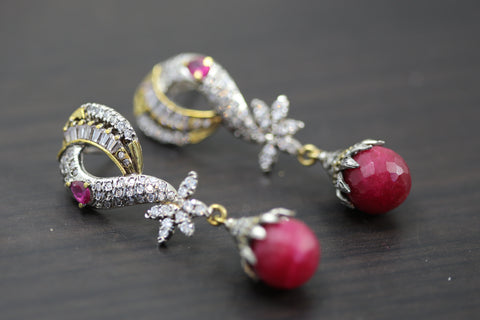 Ruby Victorian Earrings
