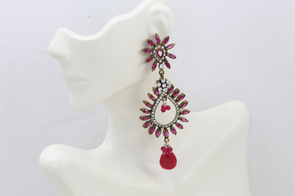 Victorian Ruby Chandbaali