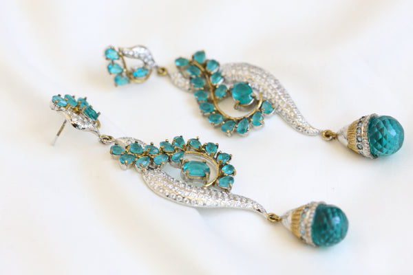 Long CZ Victorian Earrings