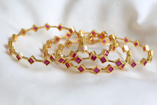 Ruby Bangle Set (Set of 4)