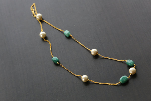 Green Delicate Bead Chain