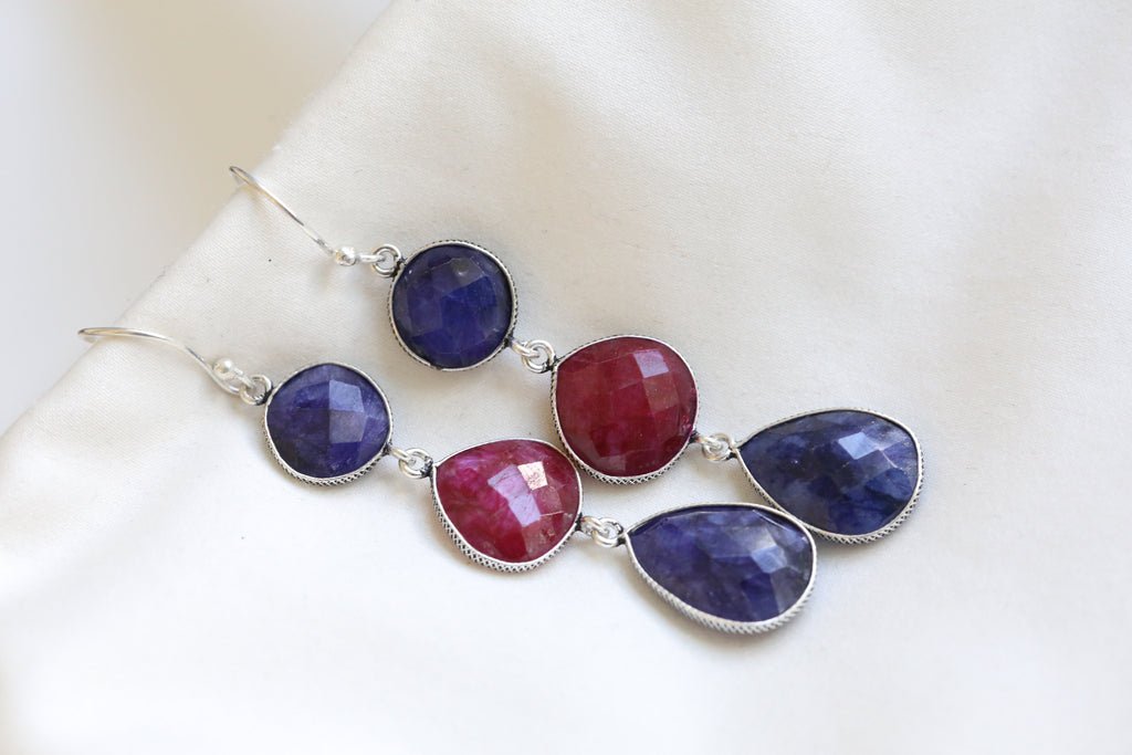 Sapphire Ruby Pearl drops