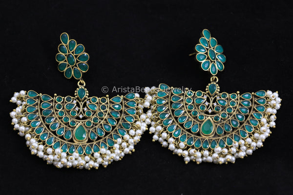Extra Large Emerald Chandbaali