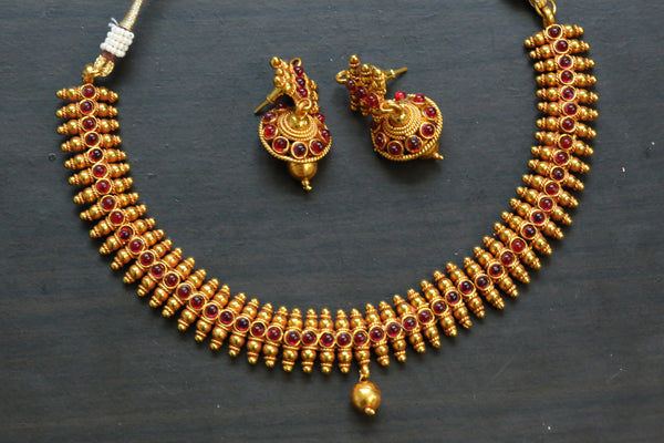 Antique Ruby Kemp Necklace Set