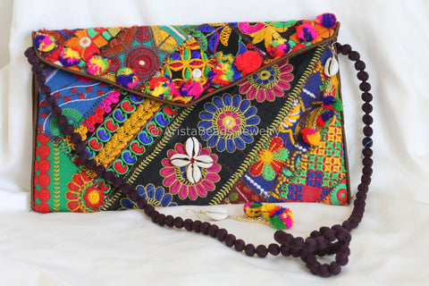 Banjara Clutch Bag with Matching Earrings