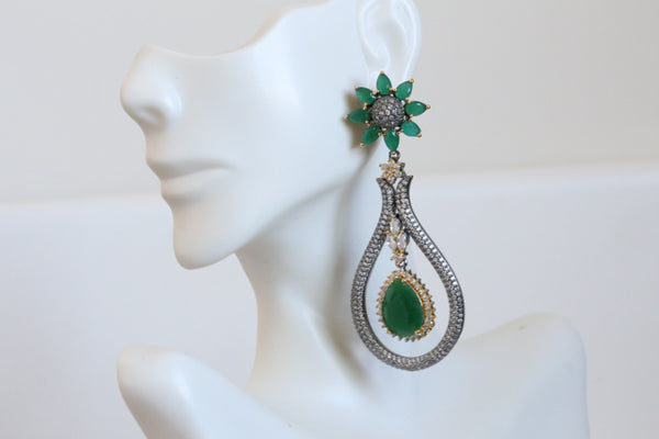 Victorian Emerald Earrings