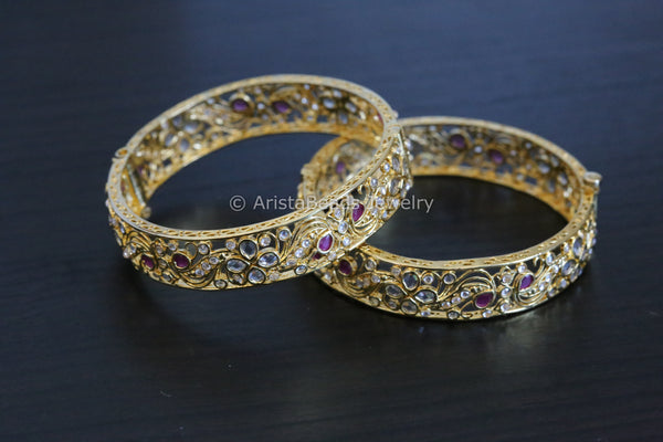 Uncut Ruby Bangle Set
