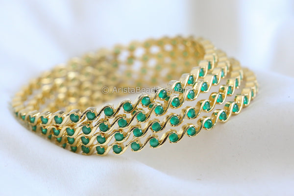 Emerald Bangle Set (Set of 4)