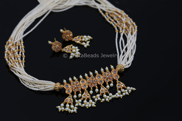 Delicate Tanmani Necklace Set