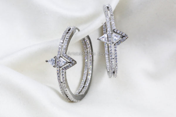 Contemporary CZ Hoops