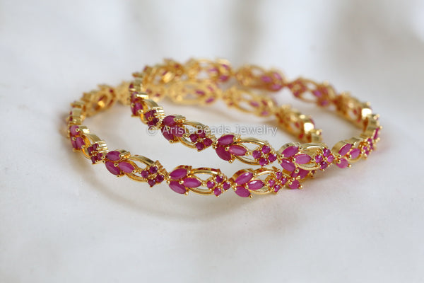 Ruby  Bangle (Set of 2)