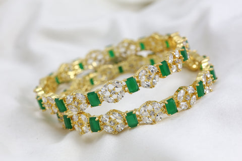 Emerald Bangle Set (Set of 2)