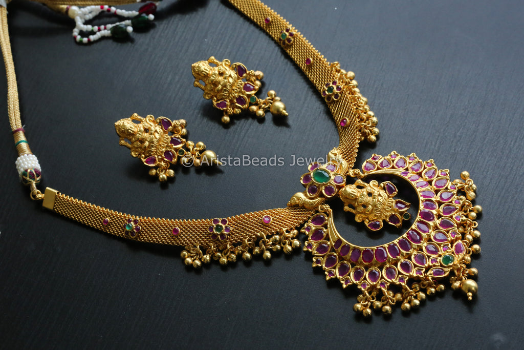 Antique Jadau Lakshmi Necklace