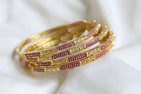 Ruby Bangles (Set of 4)