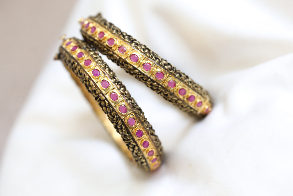 Antique Ruby Bangle Set