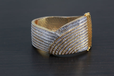 CZ Gold Bangle Bracelet